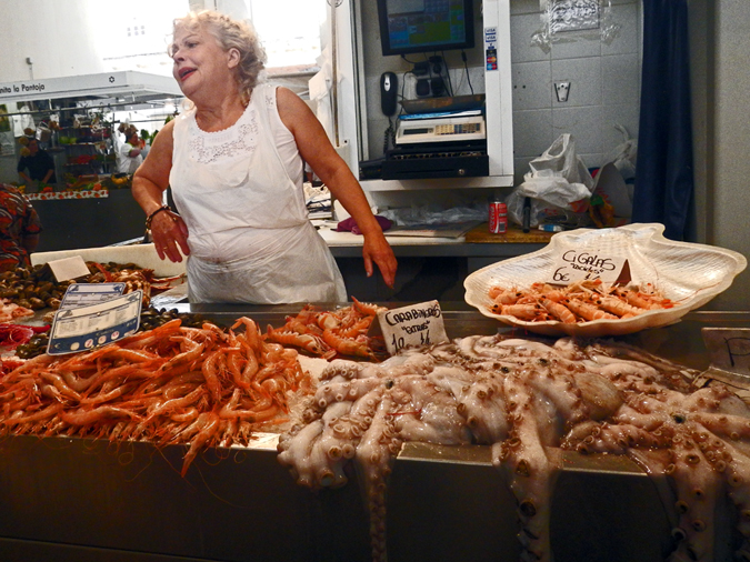Fishmonger, Cádiz, Spain. Photo by Barry Yeoman.