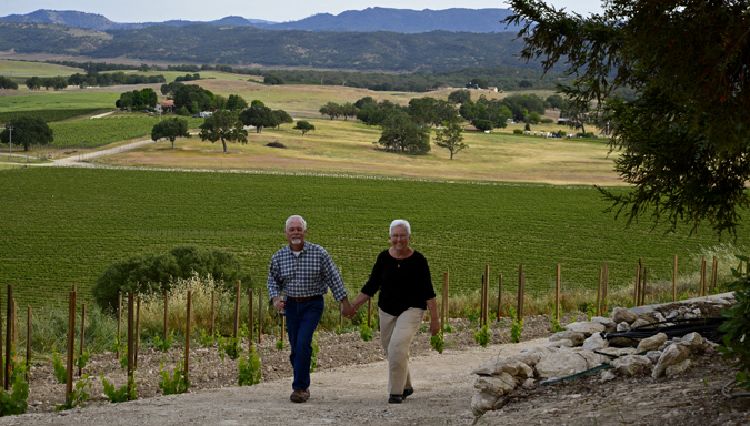 The vineyard has given the Getzelmans an exit from their fast-paced city lives.