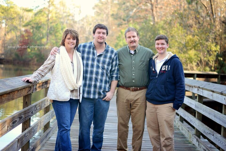 Gina Kentopp with (L-R) son Alex, husband Nick, and son Kyle. Photo by Amy Fansler.