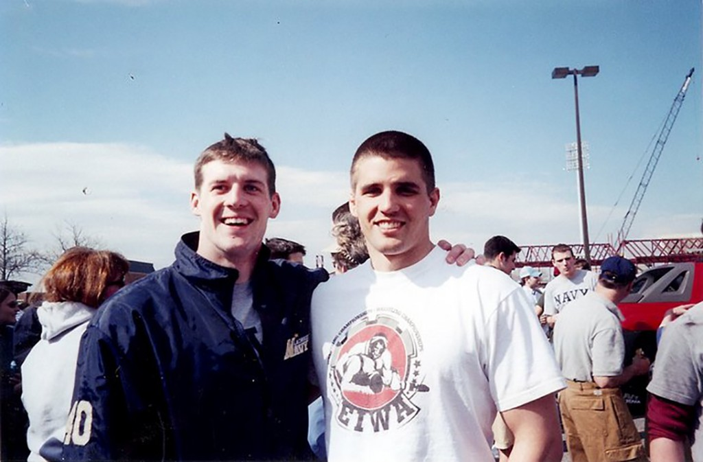 Brendan Looney (left) and Travis Manion in 2004. All photos courtesy of the Travis Manion Foundation.