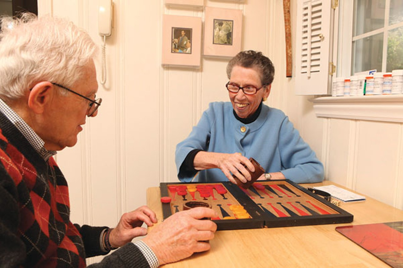 Sue and Bob Otterbourg at home in 2011. The couple traveled extensively in Sue's final months. Photo by Angie Smith.