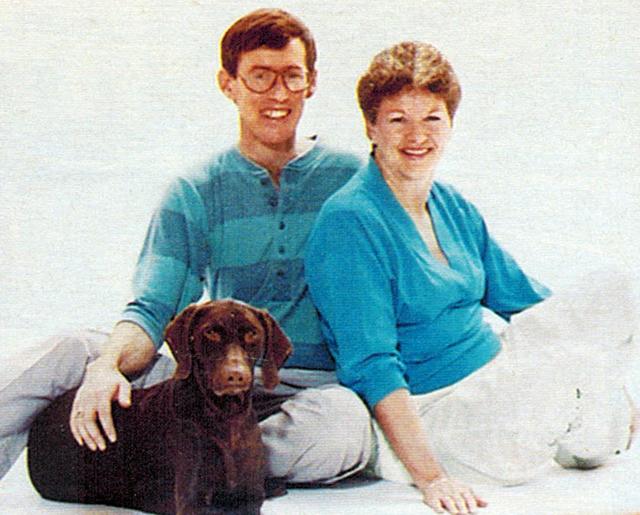 Scott and Colleen Rice, 1987.