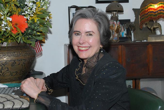 Kathy Kriger in her corner at Rick's Café.