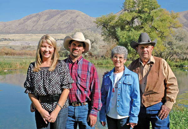 "Through four generations, the Selman family has promoted sustainable ranching and farming. They are fighting a Utah dam initiative that could flood part of their land. ""The land is a living thing,"" says Bret, second from left. ""Stewardship is a sacred calling."" Photo courtesy J.R. Raybourn/USDA Photo."